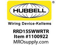 HBL-WDK RRD15SWWRTR RCPT DUP DEC WRTR 15A125V  WH
