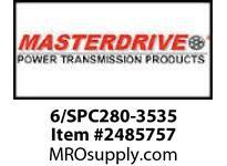 MasterDrive 6/SPC280-3535 6 GROOVE SPC SHEAVE