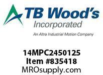 TBWOODS 14MPC2450125 14MPC-2450-125 QTPCII BELT