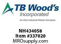 TBWOODS NH434058 NH4340X5/8 FHP SHEAVE
