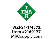 INA WZFS1-1/4L72 Linear fast shaft precision