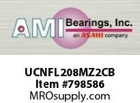 AMI UCNFL208MZ2CB 40MM ZINC WIDE SET SCREW BLACK 2-BO COV SINGLE ROW BALL BEARING
