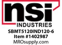 NSI SBMT5120IND120-6 SHOEBOX MED TYPE V REFLECTOR 120W INDUCTION 120V 6^ ARM
