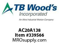 TBWOODS AC20A138 HUB AC20-A 1.375DIA