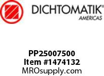 Dichtomatik PP25007500 SYMMETRICAL SEAL POLYURETHANE 92 DURO WITH NBR 70 O-RING STANDARD LOADED U-CUP INCH