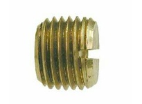 MRO 28176 3/8 BRASS SLOTTED PLUG (Package of 5)