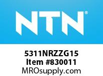 NTN 5311NRZZG15 DOUBLE ROW ANGULAR CONTACT