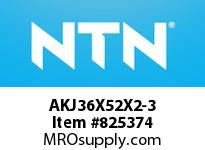 NTN AKJ36X52X2-3 THRUST NEEDLE RB(PRESSED TYPE)