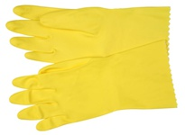 MCR 5290P Yellow Flocked Latex 18 Mil Ind/Poly Bag Size 9.5