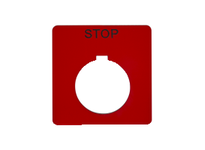 SquareD 9001KN102RP PUSH BUTTON LEGEND PLATE 30MM T-K 9001KN102RP PUSH BUTTON LEGEND PLATE 30MM T-K