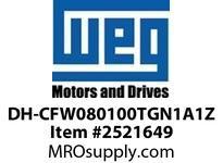 WEG DH-CFW080100TGN1A1Z VFD CFW08+ 5HP 460V 10A DB VFD - CFW