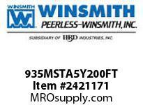 WINSMITH 935MSTA5Y200FT 935MDSTA 50 DLR 56C 1 1/4 WORM GEAR REDUCER
