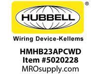HBL_WDK HMHB23APCWD DIM HBAY 1 DPST 208/240V IP65