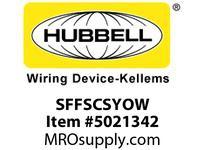 HBL_WDK SFFSCSYOW FIBER SNAP-FITFLSHSC SMPLXYLZIRCOW