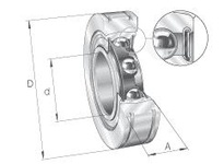 INA BE25 Radial insert ball bearing