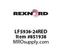 REXNORD LF5936-24RED LF5936-24 W/RHT PLGS LF5936 24 INCH WIDE MATTOP CHAIN WI
