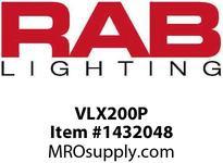 RAB VLX200P VAPORPROOF 200 3 BOX 1/2 HUB WITH PERMA GLOBE
