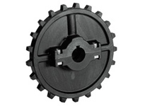614-141-19 NS7700-21T Thermoplastic Split Sprocket With Keyway And Setscrew And Adapter TEETH: 21 BORE: 2 Inch