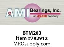 AMI BTM203 17MM NARROW SET SCREW MALLEABLE 3-B BALL BEARING
