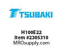 US Tsubaki H100E22 HT Cross Reference H100E22 QD SPROCKET HT