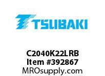 US Tsubaki C2040K22LRB C2040 RIV 2L/K-2