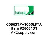 "Habasit C0863TP+1000LFTA 863 Tab 10"" Top Plate Low Friction Acetal"