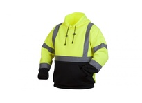 Pyramex RSSH3210L Hi-Vis Lime Pullover Sweatshirt with Black Bottom - Size Large