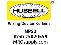 HBL_WDK NPS3 WALLPLATE 3G TOG SNAP-ON BROWN