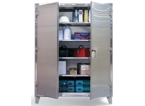 StrongHold 35-243SS Stainless Steel Industrial Cabinet 36x24x60 3 Shelves