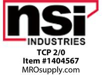 NSI TCP 2/0 BRONZE PLATED TAP CONNECTOR (AL/CU) 2/0 STR - 1 SOL MAIN 2/0 STR - 6 SOL TAP