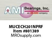 AMI MUCECH201NPRF 12MM STAINLESS SET SCREW RF NICKEL SINGLE ROW BALL BEARING