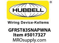 HBL_WDK GFRST83SNAPWNA 20A COM ST HG SNAP GFR USA WHITE