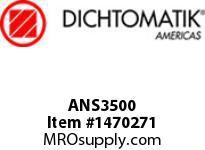 Dichtomatik ANS3500 WIPER AN STYLE POLYURETHANE 92 DURO SLOTTED HEEL WIPER INCH