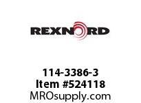 REXNORD 114-3386-3 KU4700-27T 2-1/2 KW MCH D 142428