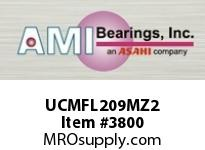 AMI UCMFL209MZ2 45MM ZINC WIDE SET SCREW STAINLESS W/ZINC COATED BEARING