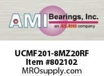 AMI UCMF201-8MZ20RF 1/2 KANIGEN SET SCREW RF STAINLESS FLANGE SINGLE ROW BALL BEARING