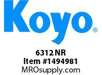 Koyo Bearing 6312 NR SINGLE ROW BALL BEARING