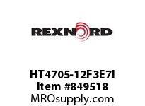 REXNORD HT4705-12F3E7I HT4705-12 F3 T7P N.75 HT4705 12 INCH WIDE MATTOP CHAIN WI