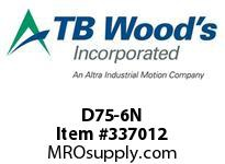 TBWOODS D75-6N NUT OLD DESIGN BEFORE 7/95