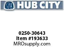 HUBCITY 0250-30643 HB2063IR 115.64 0.25HP HELICAL-BEVEL DRIVE