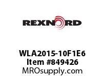 REXNORD WLA2015-10F1E6 WLA2015-10 F1 T6P WLA2015 10 INCH WIDE MATTOP CHAIN W