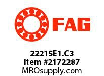 FAG 22215E1.C3 DOUBLE ROW SPHERICAL ROLLER BEARING