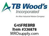 TBWOODS G45FREBRB 4 1/2FX1 3/4 RB RIGID HUB