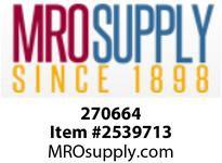 MRO 270664 MALE BULKHD CONN 9/16-18 X 1/4