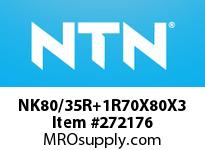 NTN NK80/35R+1R70X80X3 MACHINED RING NRB(RACE)