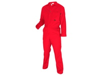 MCR CC1R66T FR Contractor Coverall 100% Cotton Red 66T
