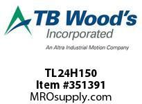TBWOODS TL24H150 TL24H150 2012 TIM PULLEY