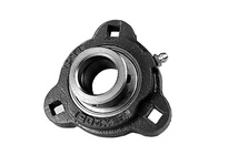 PTI F3X203-17MM DUCTILE 3-BOLT FLANGE BEARING-17MM F3X 200 SILVER SERIES - NORMAL DUTY