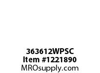 WireGuard 363612WPSC WEATHERPROOF ENCLOSURES GASKETED SCREW COVER TYPE3