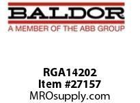 BALDOR RGA14202 BRAKING RESISTOR ASSY, 14200W, 2, OHMS, 1